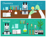 Chemie en biologie vector illustratie