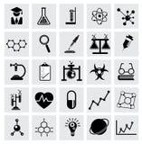 Chemie en wetenschaps vectorpictogram Stock Fotografie
