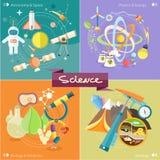 Chemie, fysica, biologie stock illustratie