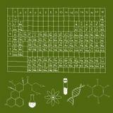 Chemie-Gekritzel-Satz Stockfoto