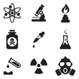 Chemie-Ikonen Lizenzfreies Stockfoto