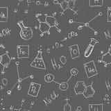 Chemie kritzelt nahtloses Muster Lizenzfreies Stockfoto