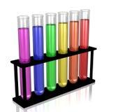 Chemie-Reagenzgläser Lizenzfreie Abbildung