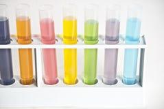 Chemie-Reagenzgläser stockbilder