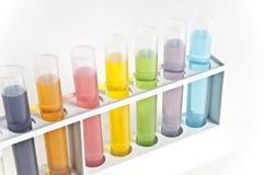 Chemie-Reagenzgläser Lizenzfreies Stockbild