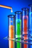 Chemie van de toekomst. Chemische reagentia. Stock Fotografie