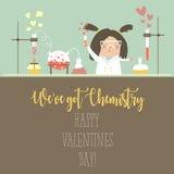 Chemie van Liefde royalty-vrije illustratie