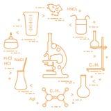 Chemie wissenschaftlich, Bildungselemente Lizenzfreies Stockbild