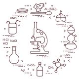 Chemie wissenschaftlich, Bildungselemente Stockbild