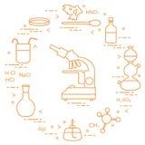 Chemie wissenschaftlich, Bildungselemente Lizenzfreies Stockfoto