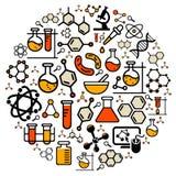 Chemiebiologie stock illustratie