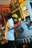 Chemiefabrik Stockbild