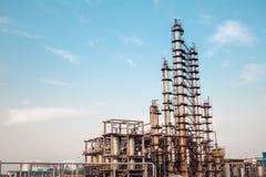 Chemiefabrikausrüstungsnahaufnahme Lizenzfreies Stockbild