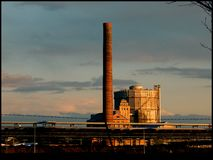 Chemiefabriken Lizenzfreies Stockfoto