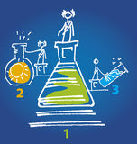 Chemiekonkurrenz lizenzfreie abbildung