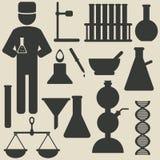 Chemiepictogrammen royalty-vrije illustratie