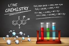 Chemiestilleven royalty-vrije illustratie
