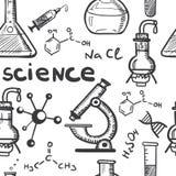Chemii i nauki pojęcia bezszwowi Obraz Stock