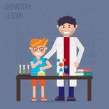 Chemii laboratorium, edukaci pojęcie ilustracji
