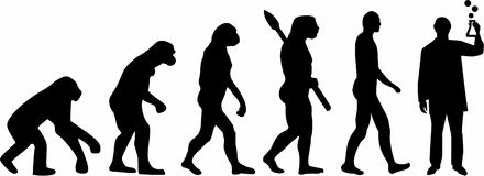 Chemii laboratorium ewolucja ilustracji