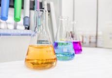 Chemii laboratorium glasswar Obrazy Stock