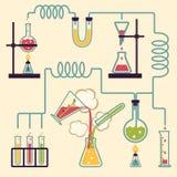 Chemii laboratorium Infographic Obraz Stock