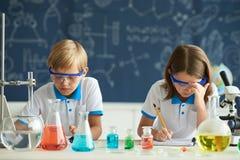 Chemii lekcja Zdjęcia Royalty Free