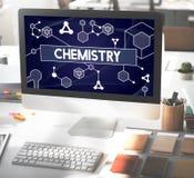Chemii nauki badania tematu edukaci pojęcie zdjęcia stock