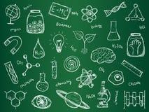 Chemii nauki tło Zdjęcia Stock