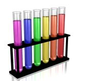 Chemii Próbne tubki Obraz Royalty Free