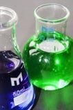 Chemii zlewki Zdjęcia Stock