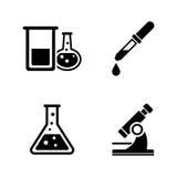 chemikalie Einfache in Verbindung stehende Vektor-Ikonen stock abbildung