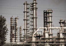 Chemikalie u. Raffinerie stockbild