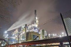 Chemikalien- und Schmierölfabrik Stockfotos