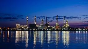 Chemikalien- und Schmierölfabrik stock footage