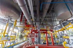 Chemikalien- und Schmierölfabrik Lizenzfreies Stockfoto