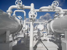 Chemikalien- und Schmierölfabrik stockbild