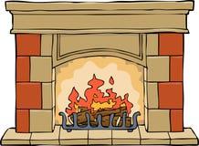 cheminée illustration stock