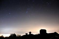 Cheminée avec des étoiles Images stock