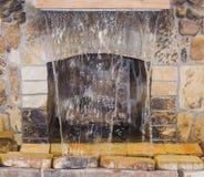 Cheminée avec la fontaine d'eau Images libres de droits