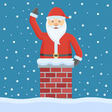 cheminée Claus Santa Image stock