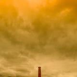 Cheminée d'évacuation des fumées Images stock