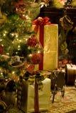 Cheminée d'arbre de Noël Photos libres de droits