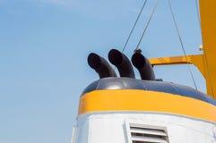 Cheminée d'un bateau à voile Image libre de droits
