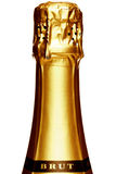 Cheminée d'une bouteille de Champagne photos stock