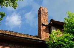 Cheminée de brique Image stock