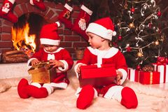 Cheminée de Noël Photographie stock libre de droits