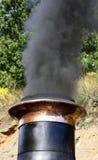 Cheminée de Smokey Image stock