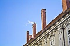 Cheminée de toit Photo libre de droits