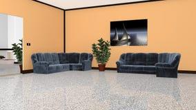 Cheminée et centrales d'intérieur Fully-equipped illustration stock